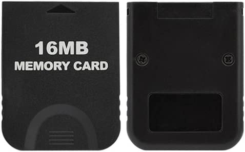 GameCube Gamilys Replacement Black 16MB Memory Card for Ninendo Wii