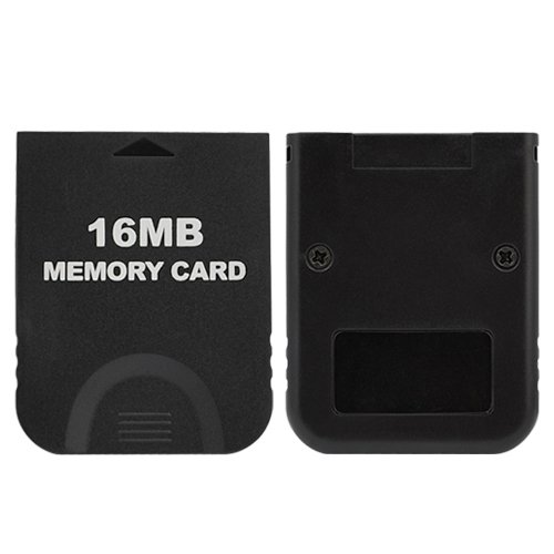Gtmax Black Camera - Gamilys Replacement Black 16MB Memory Card for Ninendo Wii / GameCube