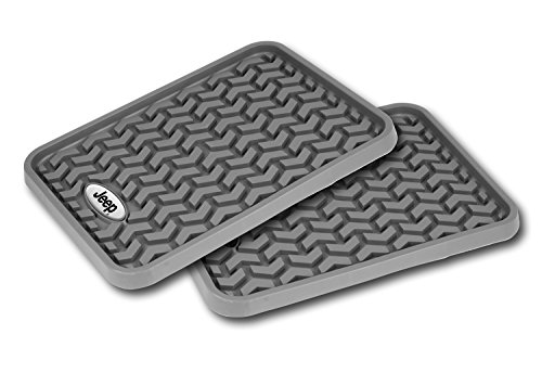 Rugged Ridge Dmc-84950.01 Gray Universal Jeep Logo Floor Liner – Pair