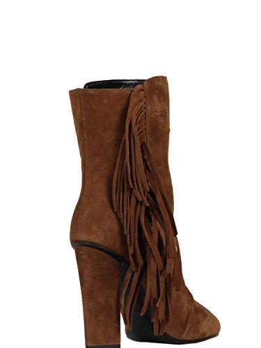 marroni Design pelle in Zanotti Stivaletti 5708561465 Giuseppe Women scamosciata 48fxw