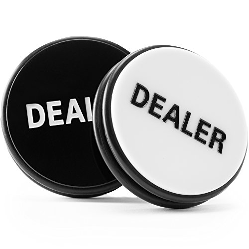 Brybelly Double-Sided Dealer Button – Casino-Grade Poker Buck Poker Weight, Large 3 Inch Diameter Puck! Great for Poker, Texas Hold 'em, Gambling Card Games