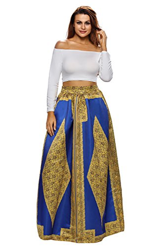 Used, Aifer Womens African Print Skirt High Waist A-Line for sale  Delivered anywhere in USA