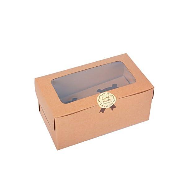 12 Kraft Bakery Cupcake Boxes