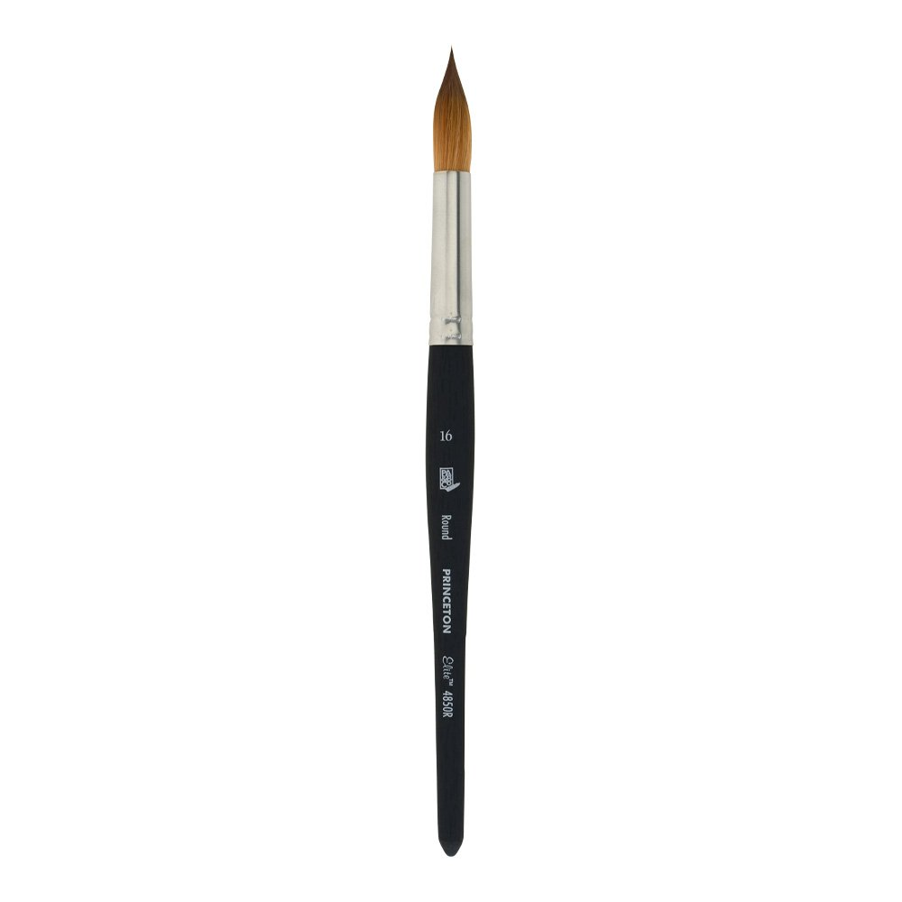 Princeton Elite NextGen Artist Brush, Series 4850 Synthetic Kolinsky Sable for Watercolor, Round, Size 16