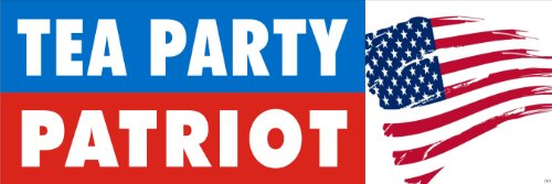 Anti Obama Political Bumper Sticker - Tea Party Patriot