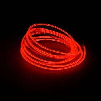 LED EL Licht Neon Seil Auto Party Dance Glühende Lichtleiste + 3V ...