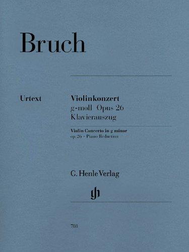 Violin Concerto In G Minor Opus 26 Piano Reduction (Bruch Violin Concerto In G Minor Sheet Music)