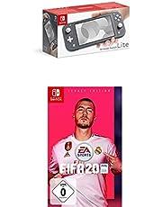 Nintendo Switch Lite, Standard, grau + FIFA 20 - Legacy Edition - [Nintendo Switch]