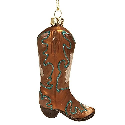 Western Boots Glass Ornament - Hobby Lobby Glass Western Cowboy Boot Christmas Ornament Glitter Embellished