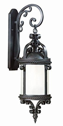 Pamplona Four Light - Troy Lighting Pamplona 30 4-Light Outdoor Wall Lantern - Old Bronze Finish with Clear Seeded Glass by Troy