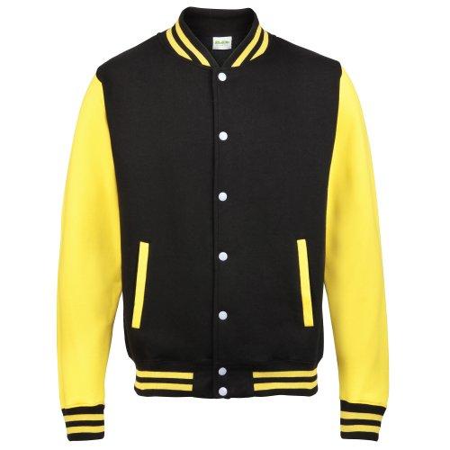 Jacket Noir Awdis Jaune Sweat Shirt Homme Varsity 5xOqXP