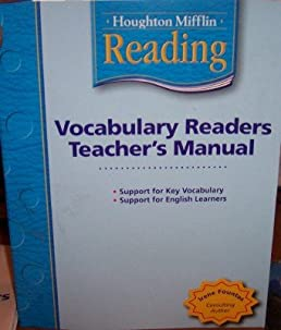 houghton mifflin vocabulary readers teacher s manual grade k 2006 rh amazon com Houghton Mifflin Mathematics Houghton Mifflin Reading Grade 1