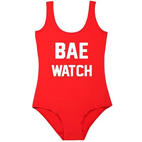 Bae Watch Bodysuit Leotard Top Fun Women's Lifeguard