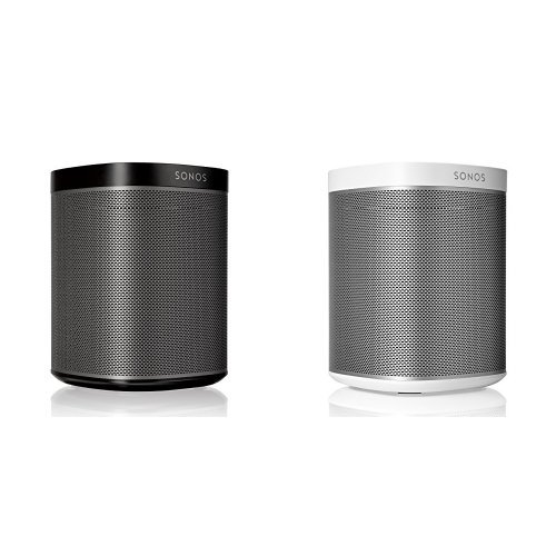 Sonos PLAY:1 2-Room Wireless Smart Speakersfor Streaming Music - Starter Set Bundle (Black & White)