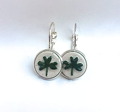 Handmade Shamrock Drop Earrings