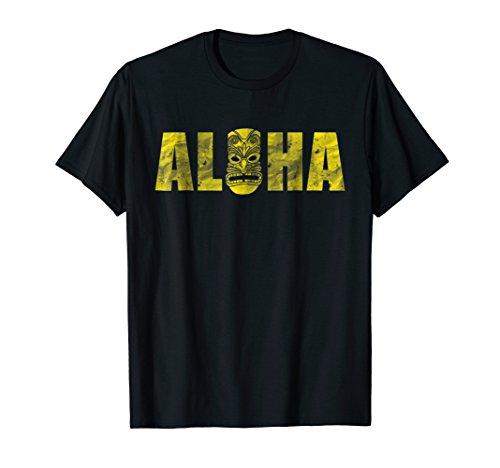 Vintage Aloha Tiki T-Shirt Hawaiian Luau Vacation Gift Tee
