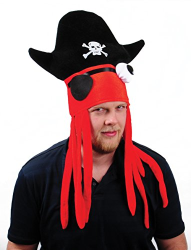 Adult Size Deluxe Pirate Squid Hat With Dreadlocks (1) (Pirates Of The Caribbean Davy Jones Costumes)