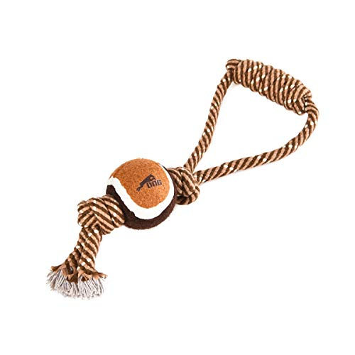 Onealpha Pet Supplies Dog Rope Chew Toy with Ball | Durable Cotton | 30CM | Resistance to Bite | for Small and Medium…