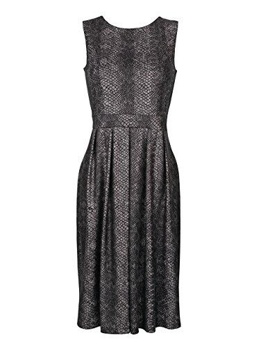 Amy Vermont Damen Jerseykleid in Schlangenhautoptik Schwarz