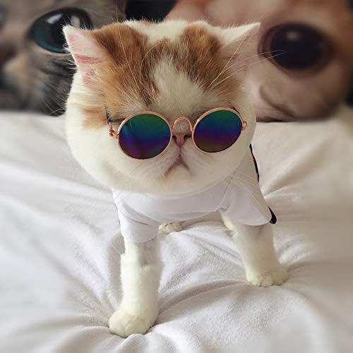 HoganeyVan Fashionable Design Small Pet Dogs Cats Eyewear Sunglasses Universal Eye Protective Summer Pet Photos Props