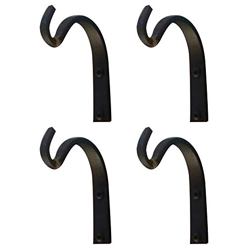 - YES Time Wall Iron Hook for Lantern Planter Bird Feeders Coat Hardware Installation Pack of 4 (4)