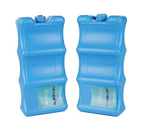 Ice Packs Contoured Shape 2 Pack,Keep Food Beverage Breastmilk Fresh Fits Around Bottles Perfectly ()