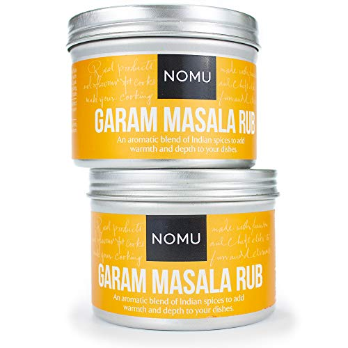 NOMU Garam Masala Seasoning Rub (2-Pack | 3.5oz) - Blend of 10 Premium Herbs and Spices - Paleo, Vegan, Non-Irradiated, No MSG or Preservatives