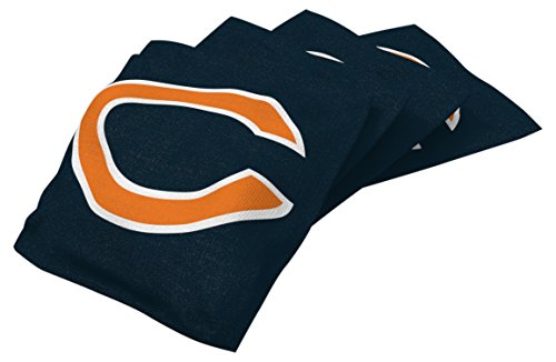 Wild Sports NFL Chicago Bears Blue Authentic Cornhole Bean Bag Set (4 Pack)