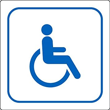 Etichetta wc per disabili, cartello con simbolo internazionale ...