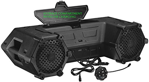 Planet Audio PATV85 Bluetooth Remote Control, Amplified Sound System, Weatherproof Speakers & Tweeters, Ideal For ATV/UTV