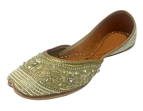 Step n Style Punjabi Jutti Khussa Shoes Beaded Sandals Ethnic Sandals Flat Ballet