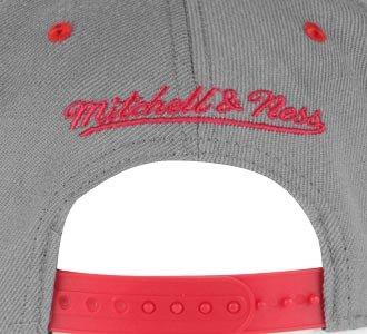 diseño Gorra color NBA de y Bulls amp; los la Chicago rojo de gris Ness Mitchell nwC1YqCA