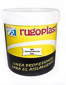 Pintura impermeabilizante economica ideal para eliminar las goteras de tu terraza, tejado, casa. Iglú Varios Colores (4L, Rojo) Envío GRATIS 24 h.