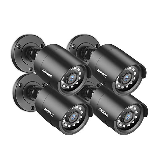 ANNKE 4 Pack 1080P HD TVI Home Security Bullet Camera, IP66 Waterproof Outdoor Indoor Night Day Vision 100ft