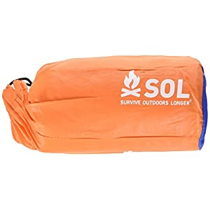 S.O.L. Survive Outdoors Longer 2-Person Emergency Bivvy, 90 Percent Heat Reflective, Durable Personal Shelter, Lightweight Emergency Survival Sleeping Bag Sack, Drawstring Bag, Water-Resistant, 4.9oz