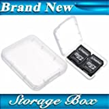 Micro SD SDHC MMC CF Memory Card Plastic Clear Holder Box Storage Case.