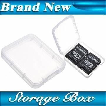 Micro SD SDHC MMC CF Memory Card Plastic Clear Holder Box Storage Case