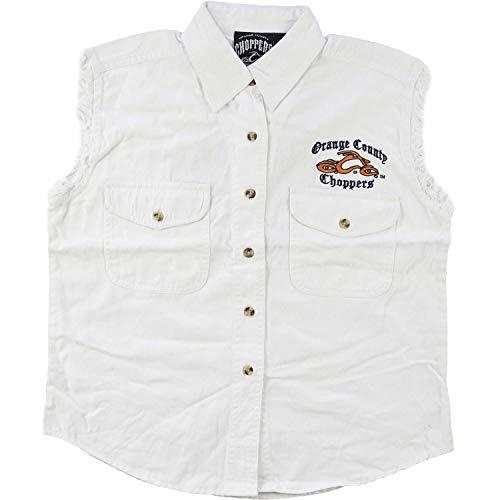 Orange County Choppers Men's Logo Vest Large White