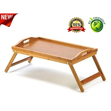 Premium Breakfast Bed Tray From Natures Wood - Best For Breakfast in Bed, TV Tray, Lap Tray or Laptop Desk - Multi-purpose, Lightweight - Makes a Great Gift!