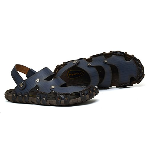 Eagsouni Slide Sandal Herren Freizeit Hausschuhe Sandalen Outdoor Sommer Strand Pantolette Schuhe Blau