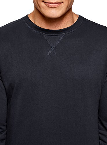 Coton 7900n Sweat En Bleu shirt Basique Homme Ultra Oodji U7vaq