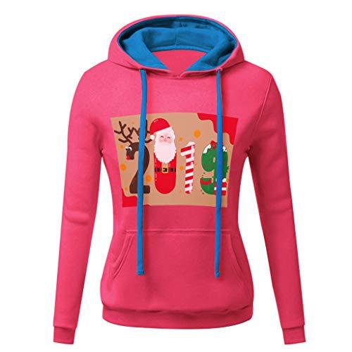 Forthery Women's Ugly Christmas Sweatshirts Long Sleeve Pockets