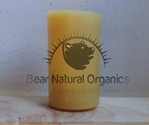 Candle Beeswax Pillar (Handmade 100% Raw Organic Beeswax Pillar Candle 2