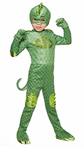 [PJ Masks Gekko Toddler / Child Costume (2T-4T)] (Pj Mask Costume)
