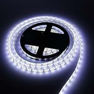 HuaSheng Waterproof 5M 120W 300x5630 SMD Cool White Light LED Strip Lamp (DC 12V)