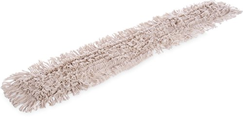 Carlisle 364754800 Flo-Pac Cotton Tie Back Dust Mop, 48'' Length x 5'' Width (Pack of 12) by Carlisle