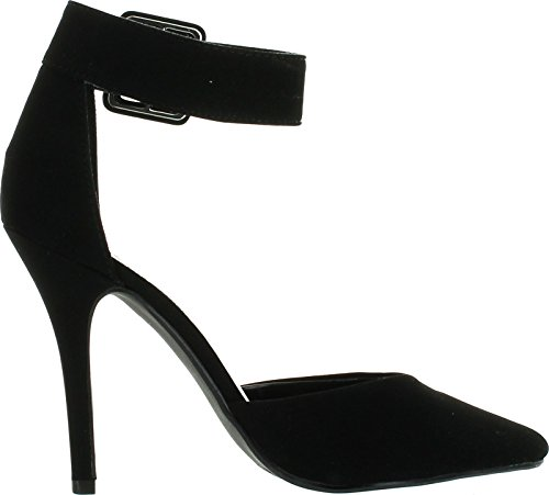 Délicieuses Femmes Date-h Mode Pompes-chaussures Blacknubuck