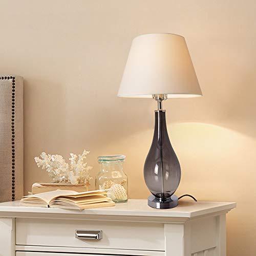 Table Lamp for Living Room Modern Grya Ombre Glass 28 inch Bedside Lamp for Bedroom Table Lamps for Living Room