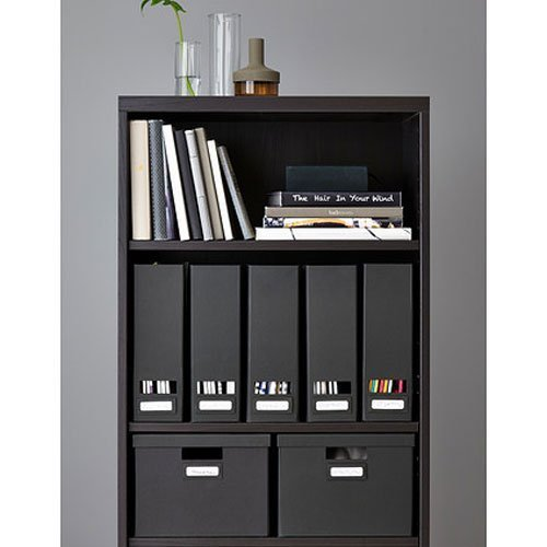 Set of 2 Ikea Tjena Magazine File Organizer Storage Black (Tjena Storage Box)