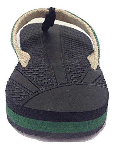 Deponi Dzine Resirkuleres Mens Flip-flops Grønn 12 M Oss